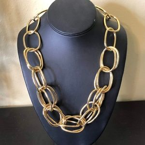 Iman Chunky Gold Necklace, NWT